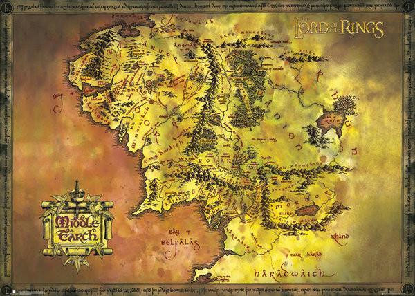 Poster Der Herr der Ringe - Classic Map