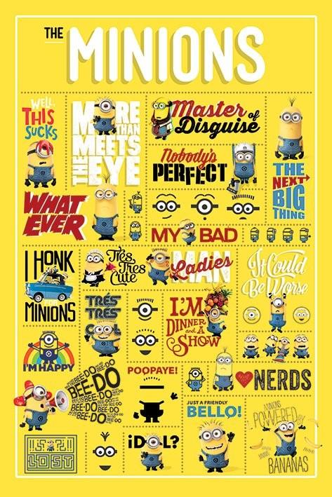 Poster Despicable Me - Ich - Einfach unverbesserlich - Infographic