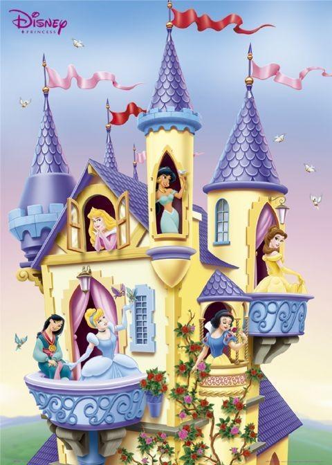 Poster DISNEY PRINZESSINNEN - castle