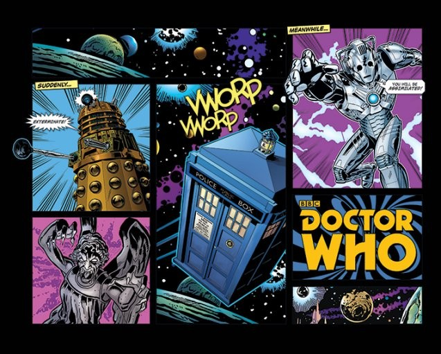 Poster Doctor Who - Comic Layout
