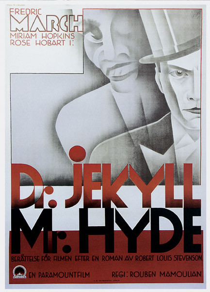 Poster DR. JEKYLL OCH MR. HYDE - Fredric March, Miriam Hopkins