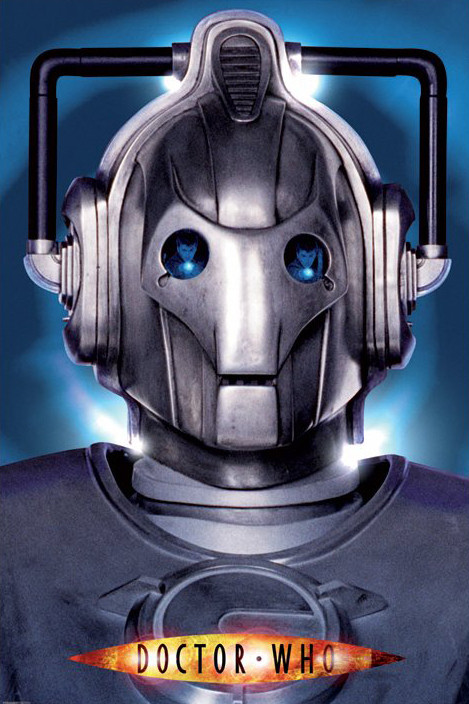 Poster DR. WHO - cyberman face