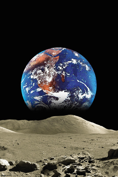 Poster Earth from the Moon