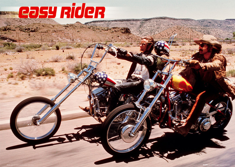 Easy rider - motorbikes Poster