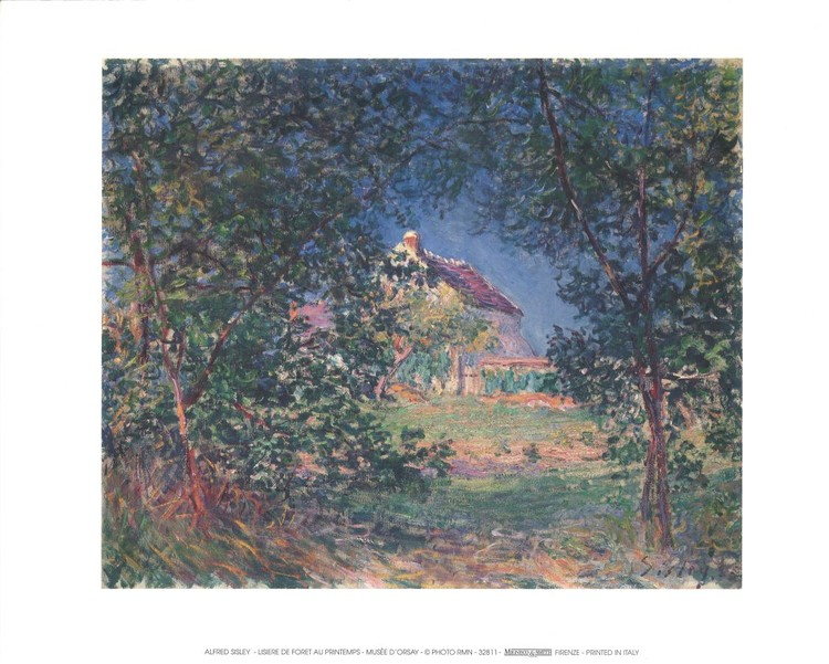Edge of the Forest in Spring, 1885 Kunstdruck