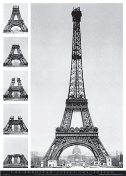 Poster Eiffel tower - european