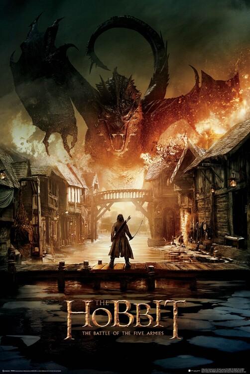 Póster El Hobbit - Smaug
