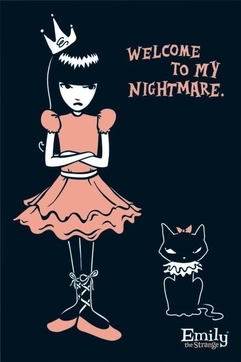 Poster Emily the strange - nightmare