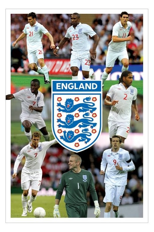 Poster England - 8 players montage