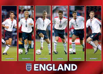 Poster England - players