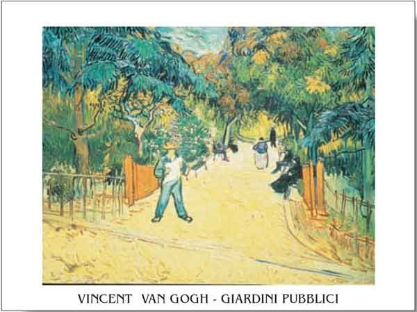 Entrance to the Public Garden in Arles, 1888 Kunstdruck