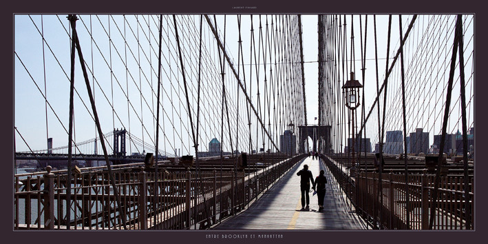 Entre Brooklyn et Manhattan Kunstdruck