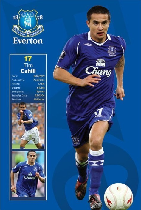 Poster Everton - tim cahill