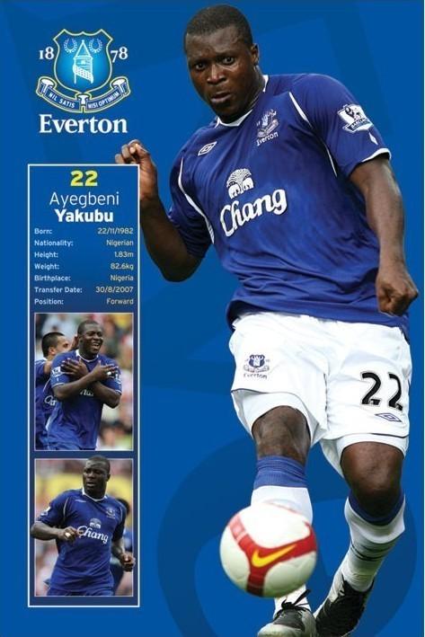 Poster Everton - yakubu