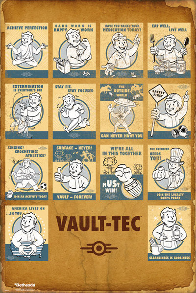 Poster Fallout 4 - Vault Tec Compilation