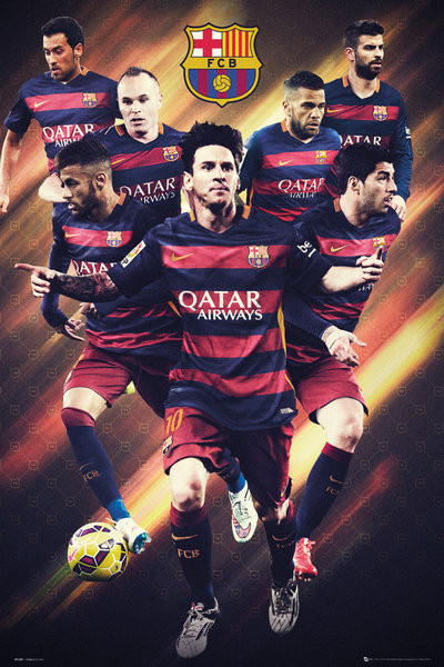 Poster FC Barcelona - Players 15/16