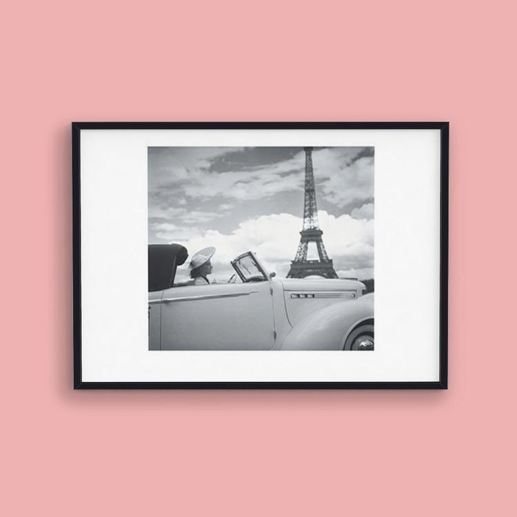 Poster Femme au Volant Paris