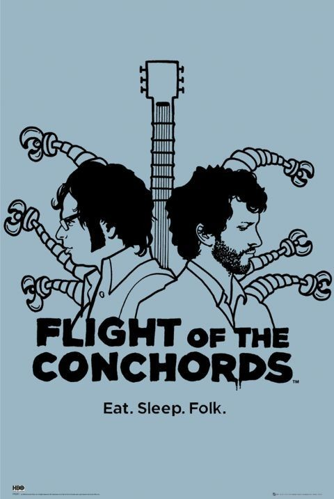 Poster FLIGHT OF THE CONCHORDS - eat sleep folk