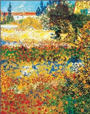 Poster Flowering garden, 1898
