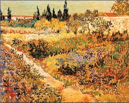 Flowering Garden with Path, 1888 Kunstdruck