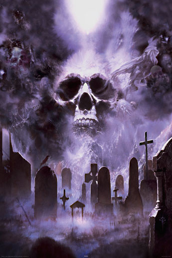 Poster Fournier - cemetery