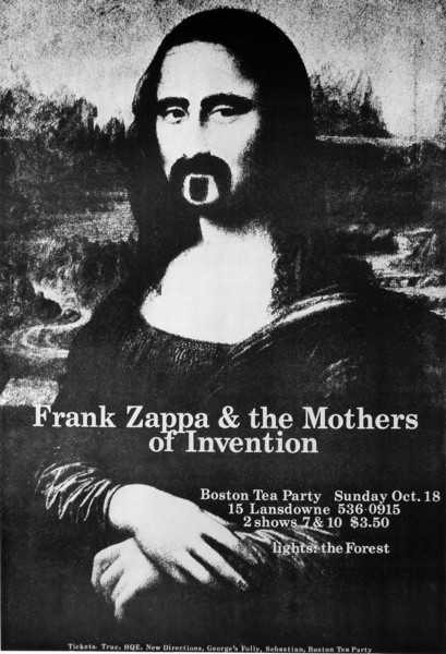 Poster Frank Zappa & the Mothers of invention - Mona Lisa