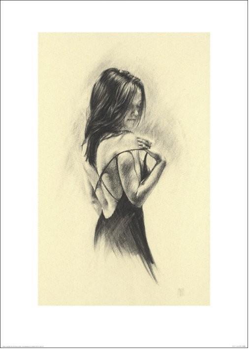 Frau - Dark Kunstdruck