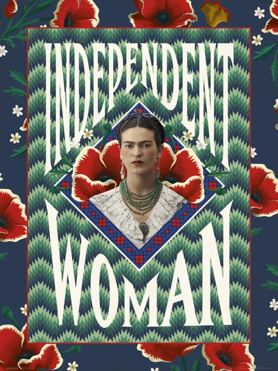 Poster  Frida Khalo - Independent Woman