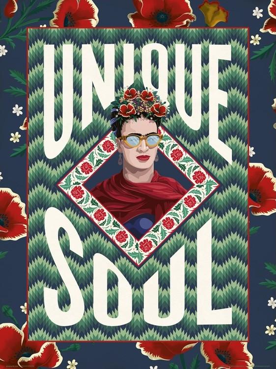 Frida Khalo - Unique Soul Kunstdruck