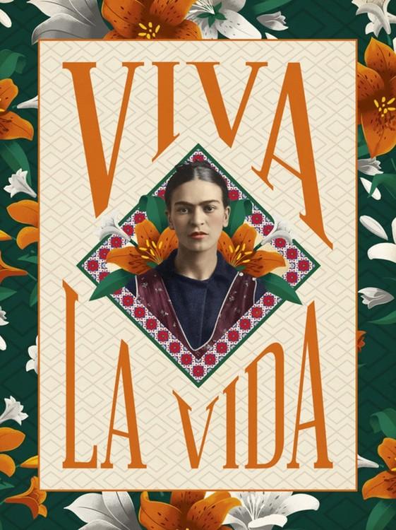 Frida Khalo - Viva La Vida Kunstdruck