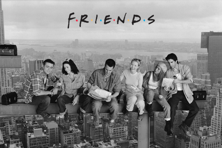 Плакат Friends - Lunch atop a Skyscraper