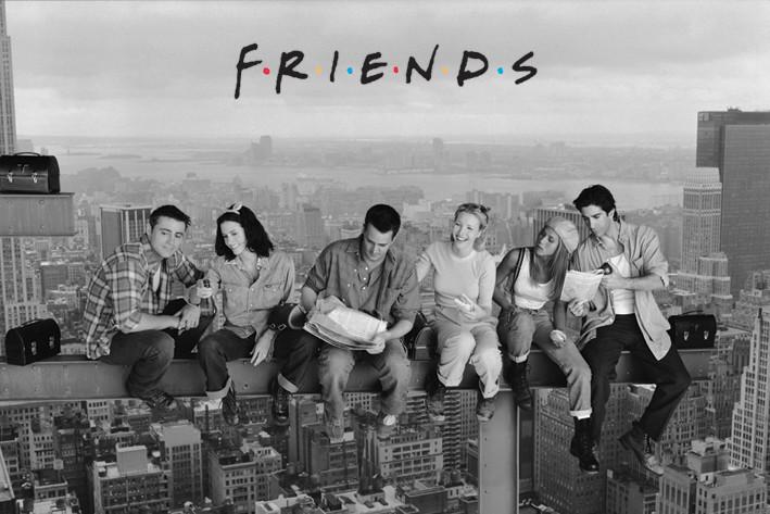 Poster Friends - Lunch bovenop een wolkenkrabber