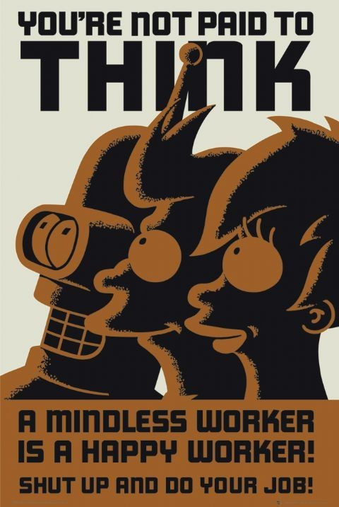 Poster FUTURAMA - dont think