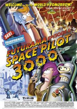 Poster FUTURAMA - space pilot 3000