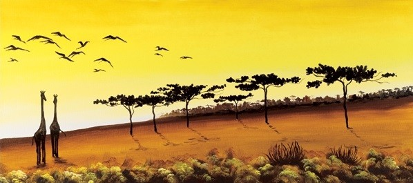 Giraffes, Africa Kunstdruck