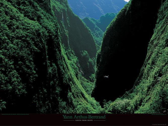 Gorges du Bras de Caverne - ile de la Réunion Kunstdruck