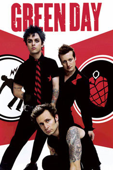 Poster Green Day - Red