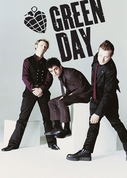 Poster Green Day - white room