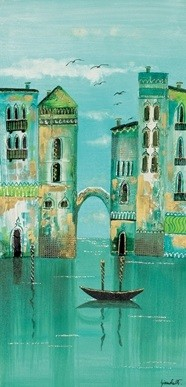 Green Venice Kunstdruck
