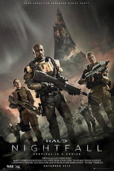 Poster Halo: Nightfall - Key Art