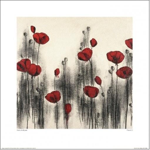 Hans Andkjaer - Floral II Kunstdruck