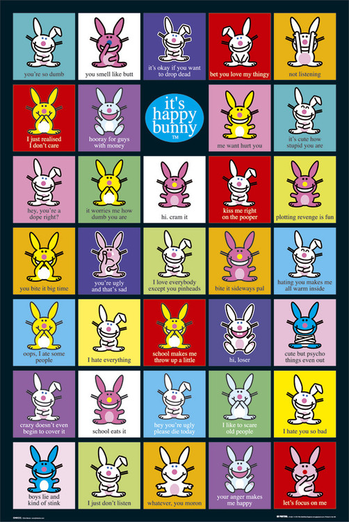 Poster Happy Bunny - compilation