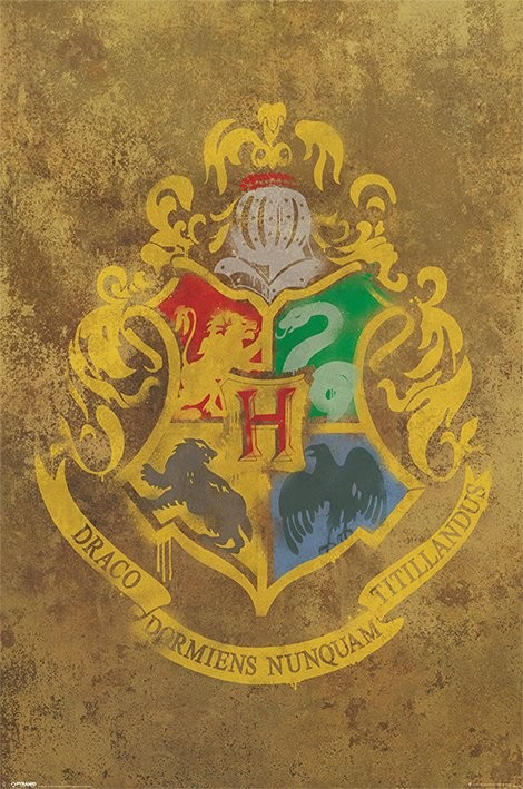 Плакат HARRY POTTER - hogwarts crest