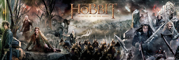 Poster Hobbit 3: Femhäraslaget - Collage