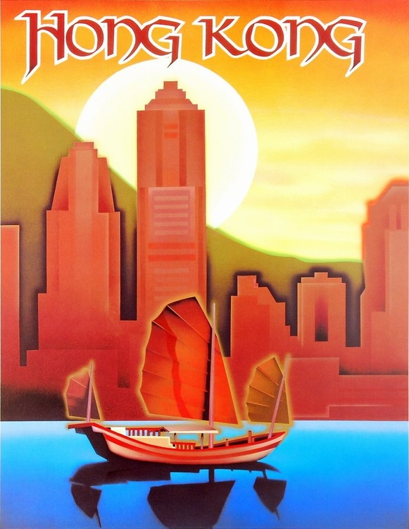 Hong Kong Kunstdruck