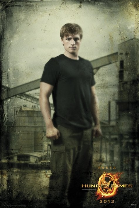 Poster HUNGER GAMES - peeta in district