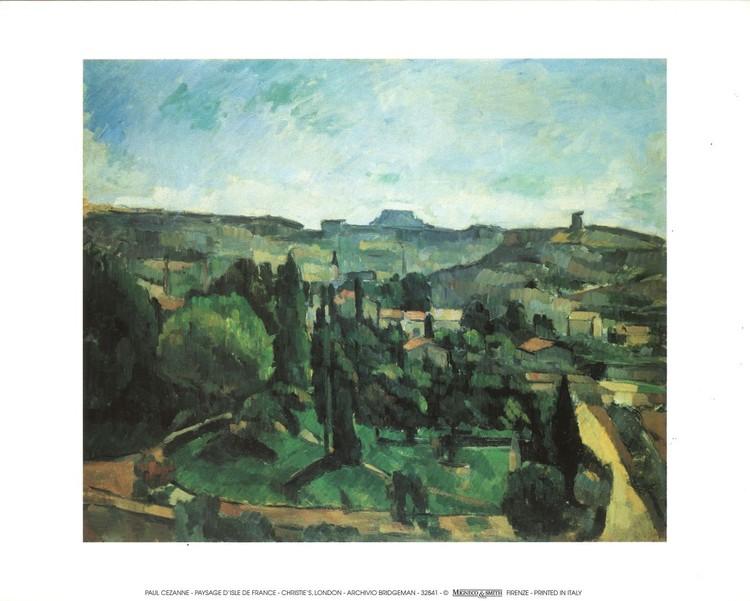 Konsttryck Ile De France Landscape