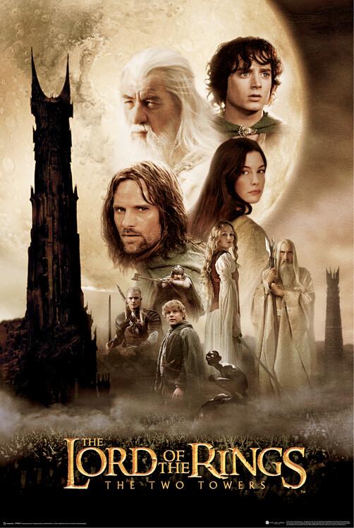 Poster In de Ban van de Ring - Twee torens