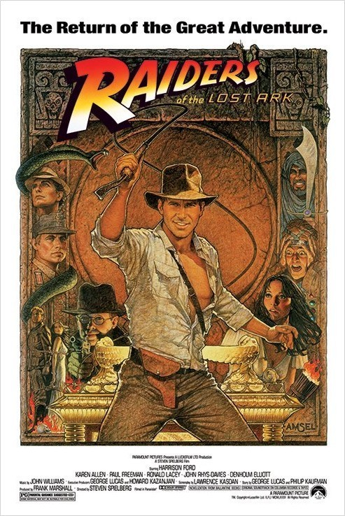 Poster INDIANA JONES - raiders of the lost ark II.