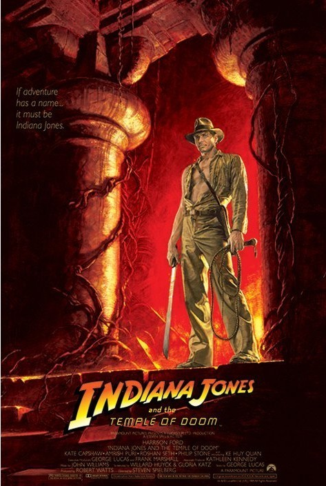 Poster INDIANA JONES - temple of doom one sheet